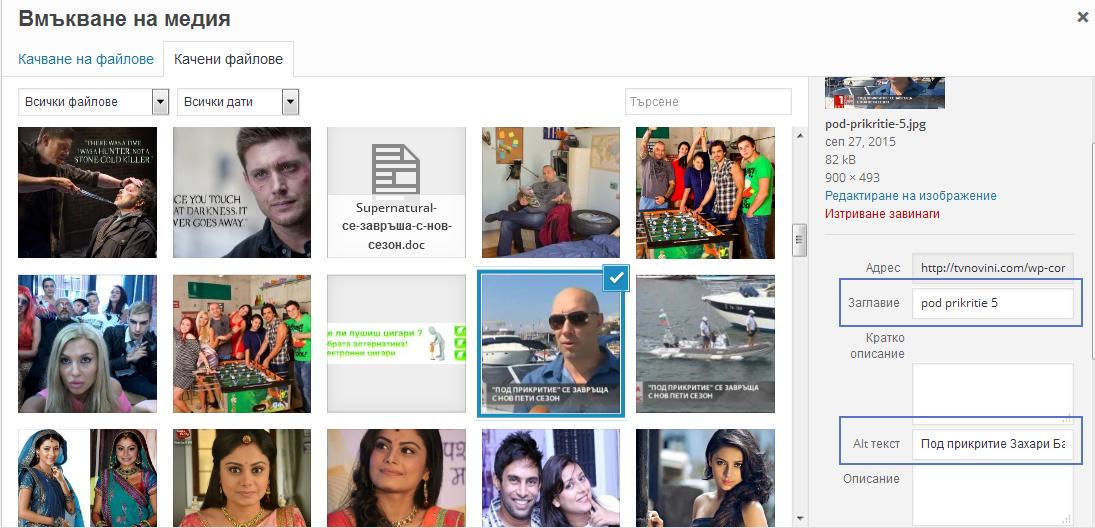 Wordpress изображения